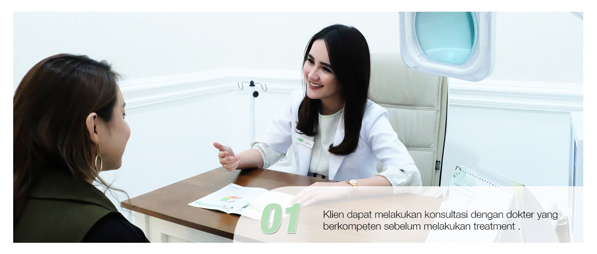 Langkah pertama treatement Photo Facial