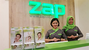 ZAP One Belpark-Guest Relation Officer siap meyambut customer yang hadir