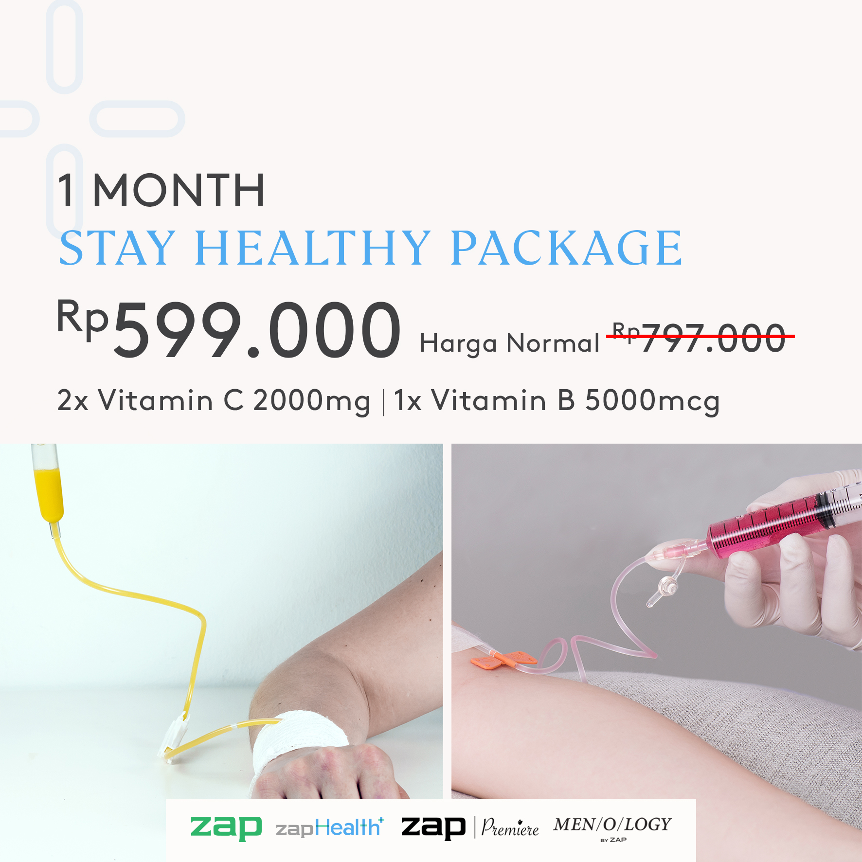 1 Month Stay Healthy Package