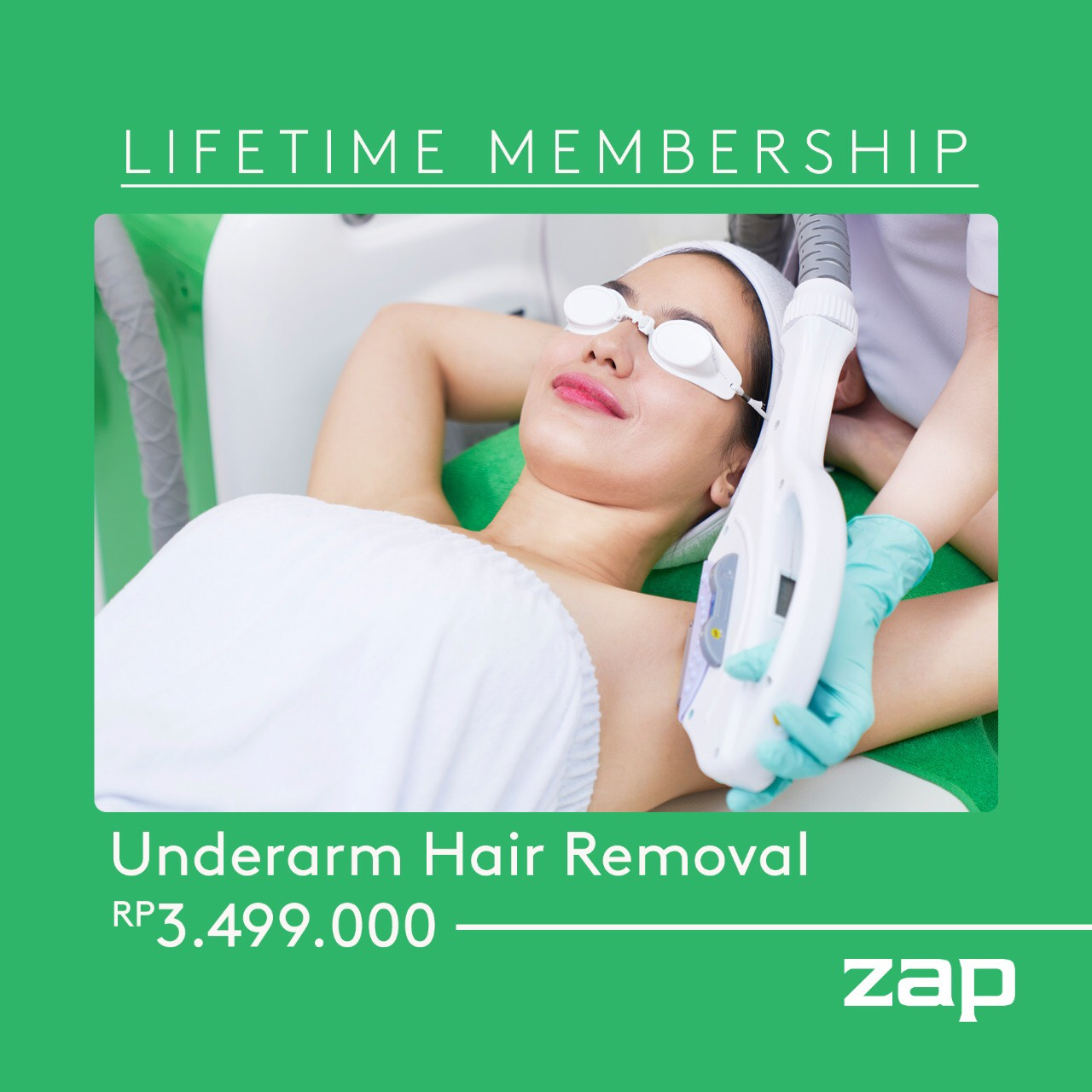 Lifetime Membership Underarm Hair Removal