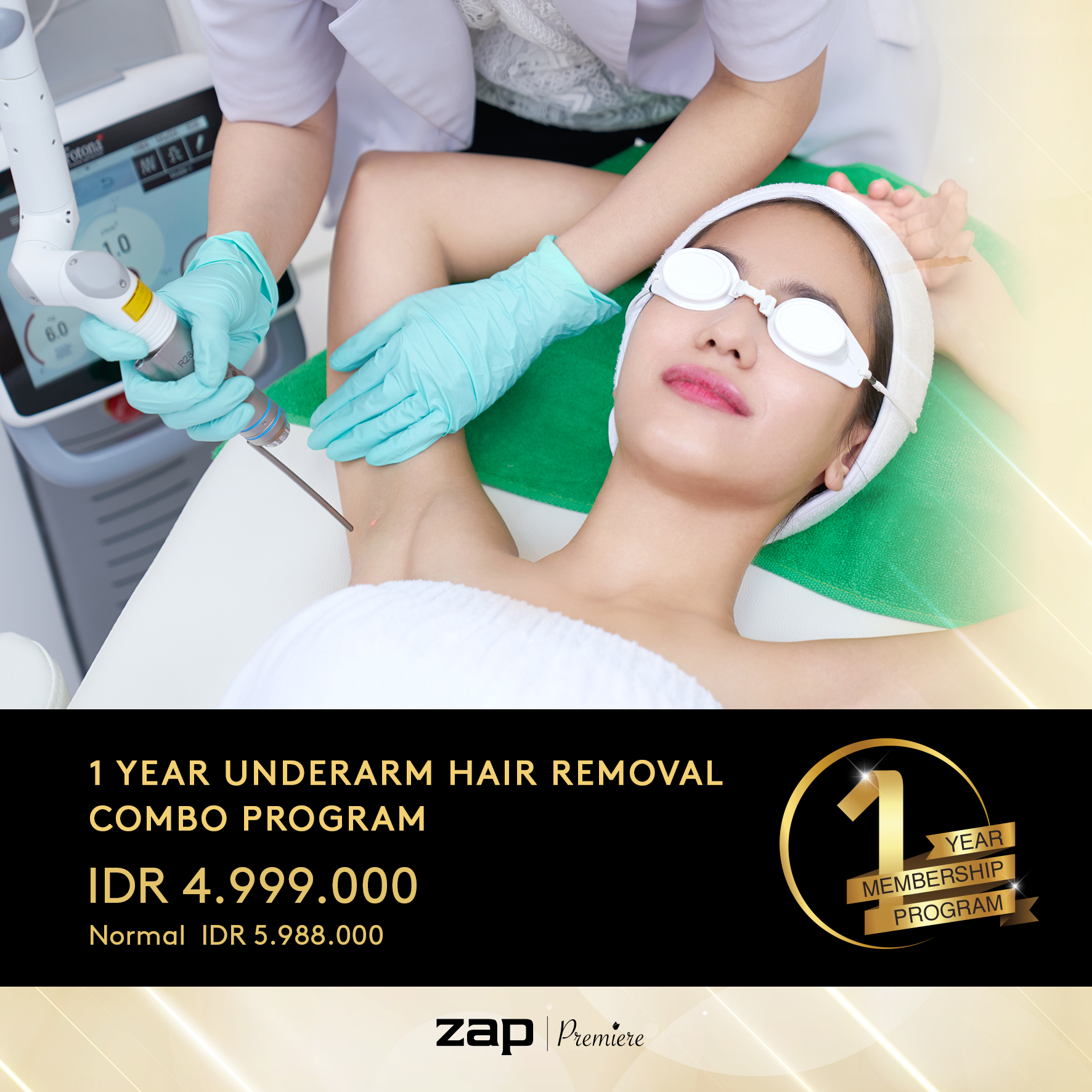 1 Year Underarm Hair Removal Combo Program