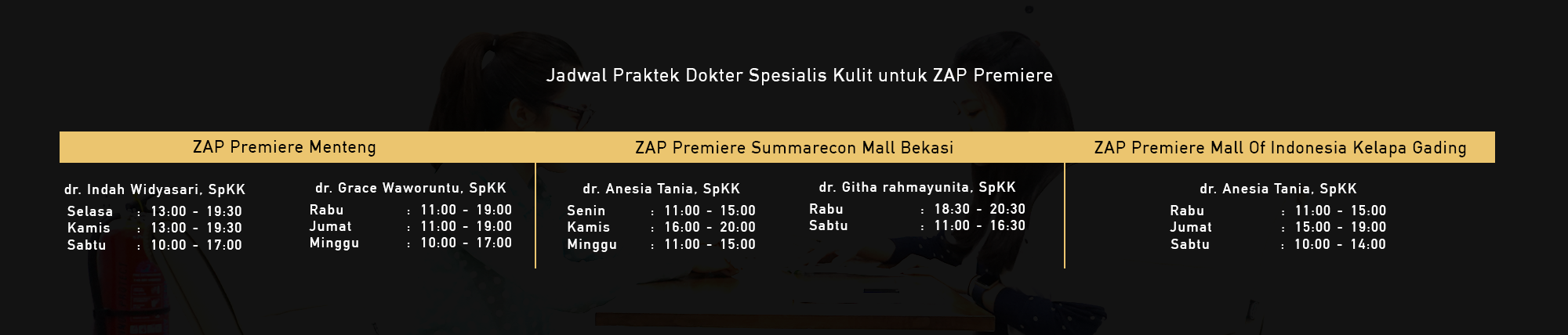 Jadwal Dokter ZAP Premiere
