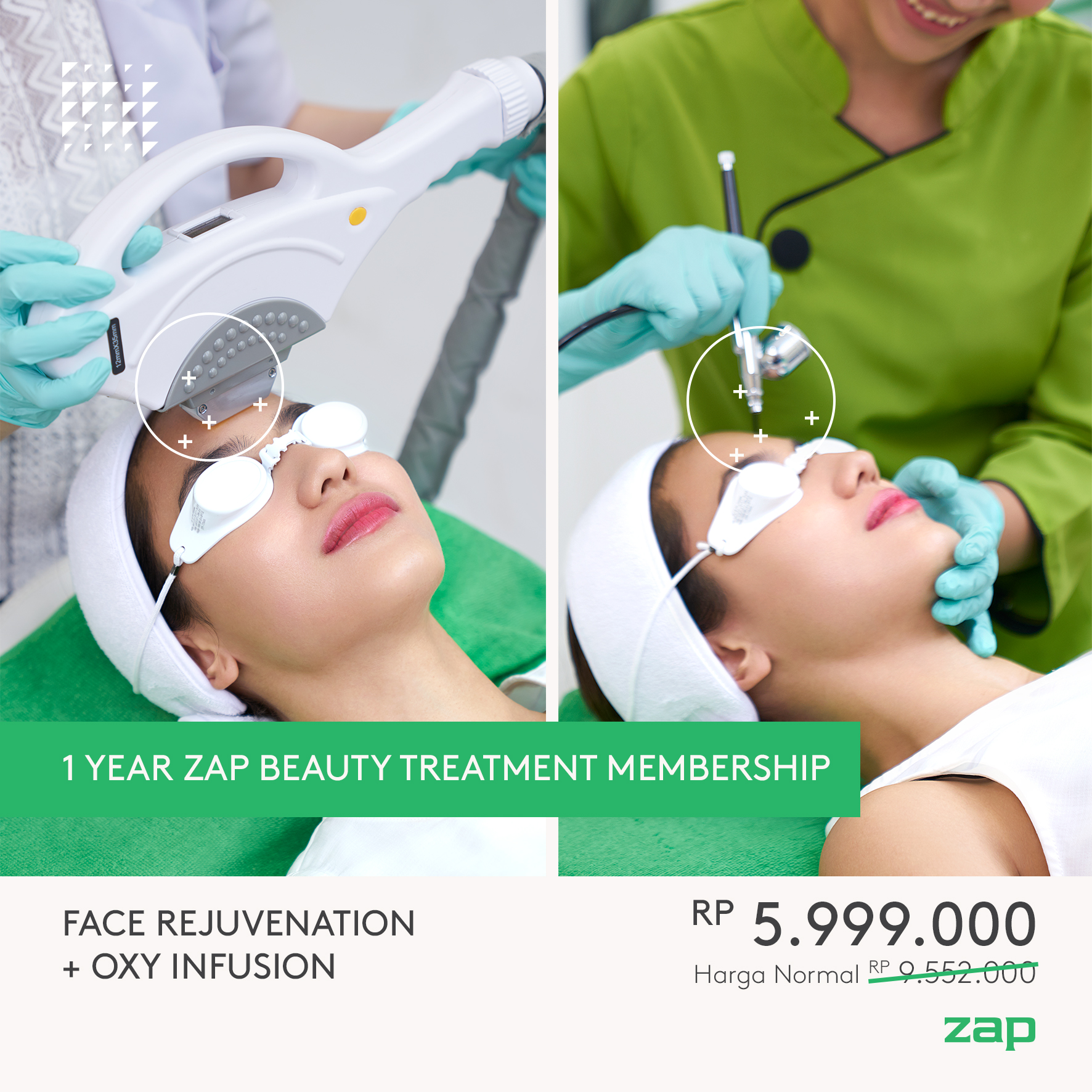 1 Year Face Rejuvenation and Oxy Infusion Membership